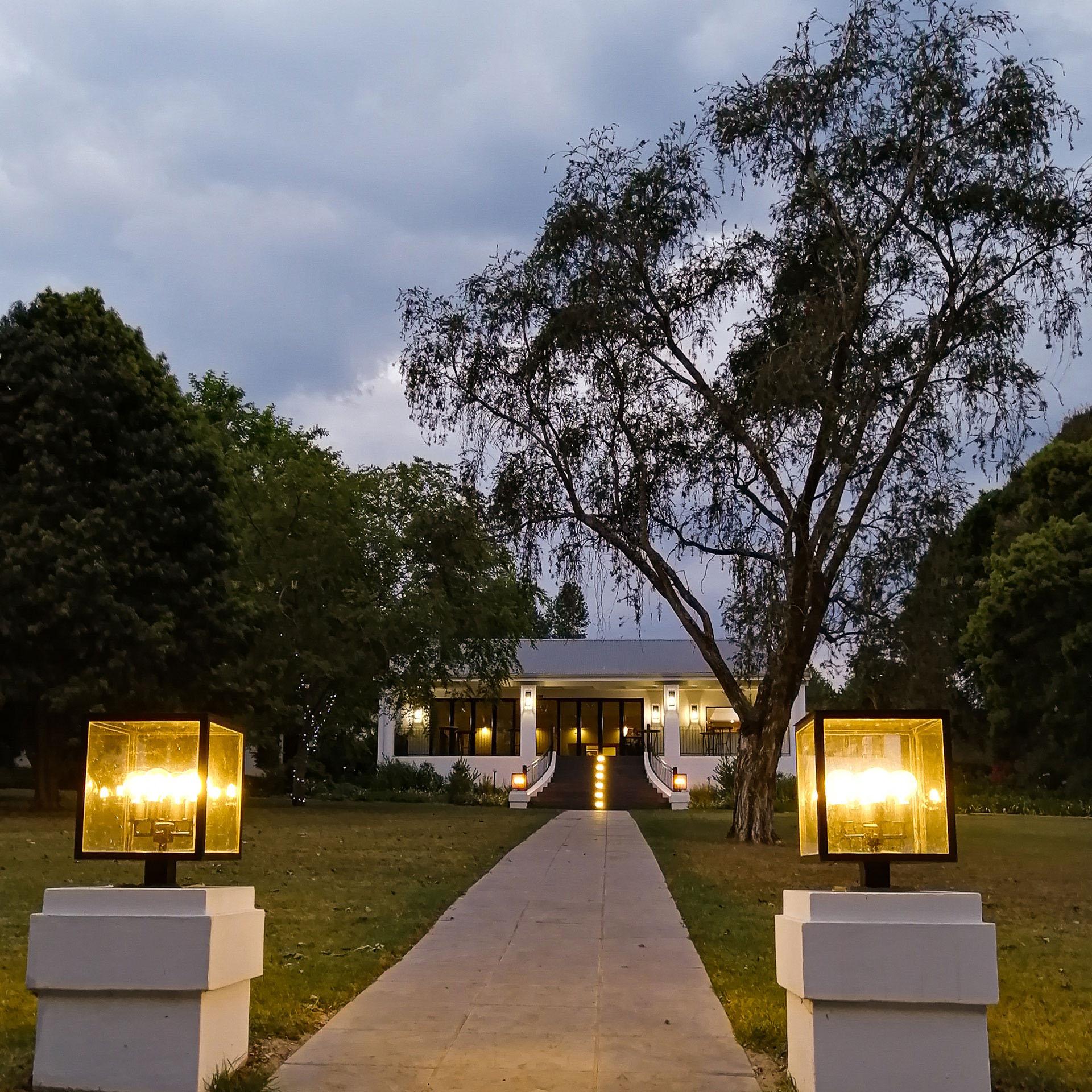 Harrington House venue dusk